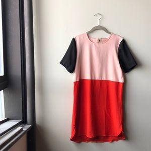 ❤️ Vintage mod color block shift dress